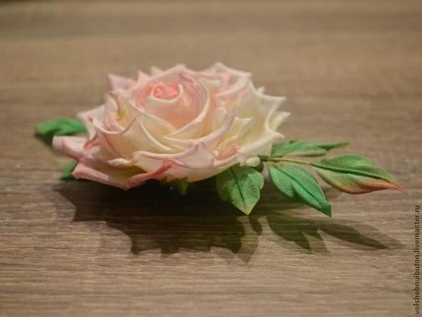 Роза из шелка. Мастер-класс для начинающих.