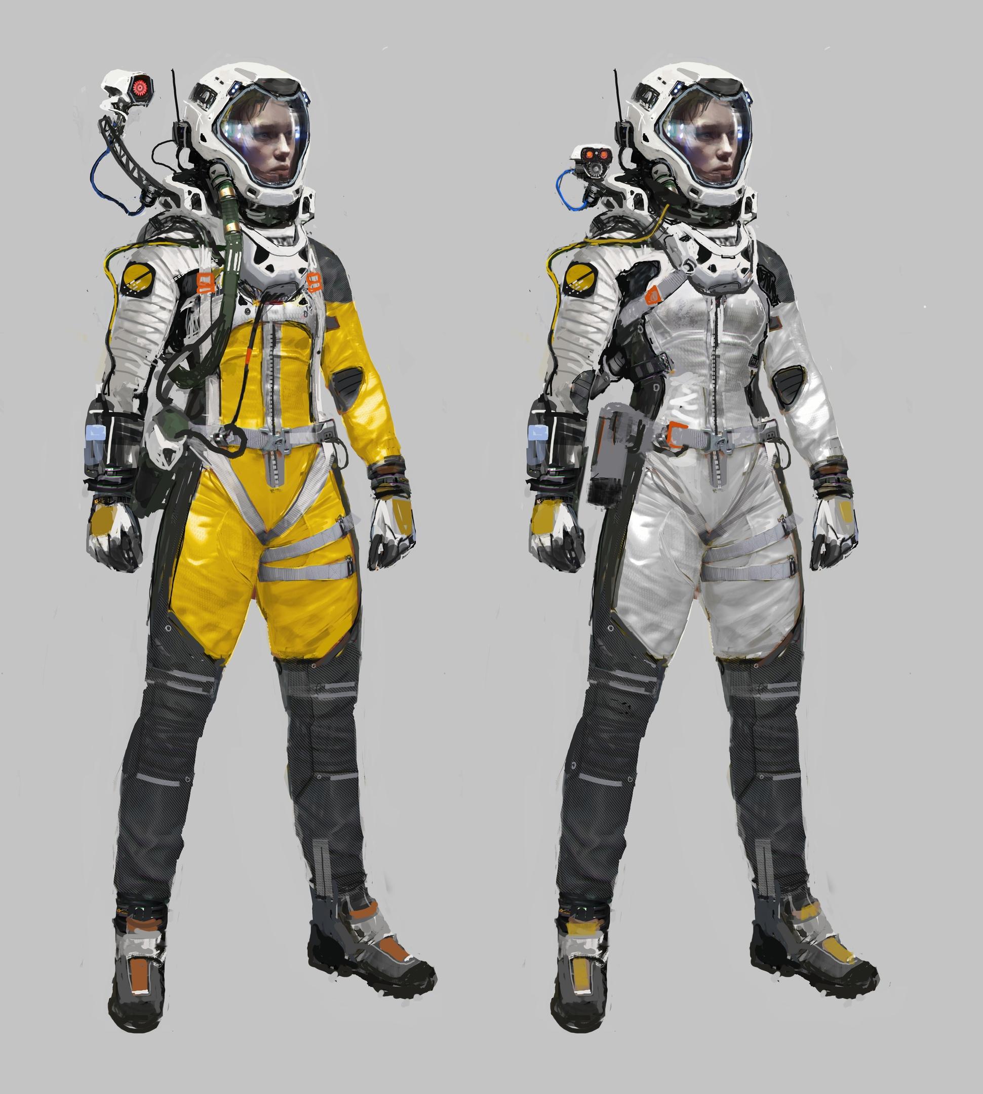 Яркий и чистый дизайн костюма — это холст, на котором можно отразить путешествие Селены. Костюм также позволяет отслеживать перемещения персонажа как в темной среде, так и в напряженном бою.