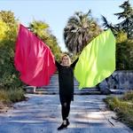 Флаги-крылья из подкладочной ткани (пара)
