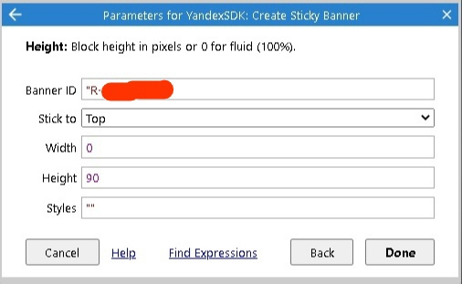 Yandex SDK construct 3 создаем баннер