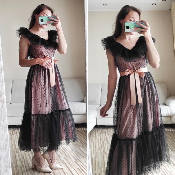 Платье с сеточкой!