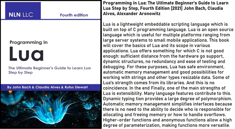Programming in Lua: The Ultimate Beginner's Guide to Learn Lua Step by Step, Fou...