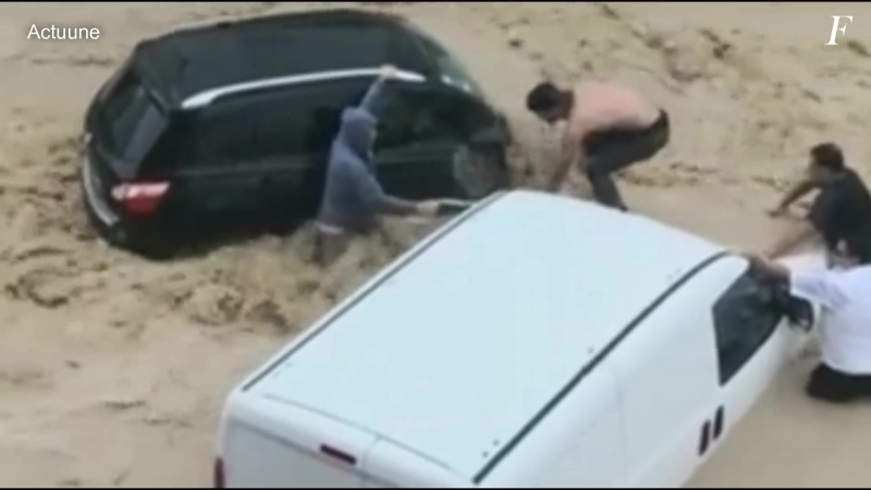 Extreme flood in Nabeul Tunisia on September 22 2018