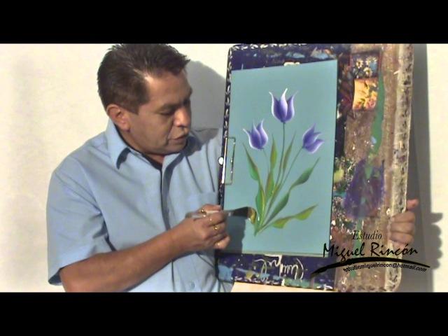 Pinceladas Básicas Tulipan en Pintura Decorativa con Miguel Rincón