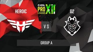 CS:GO - G2 Esports vs. Heroic [Vertigo] Map 2 - ESL Pro League Season 12 - Group A - EU