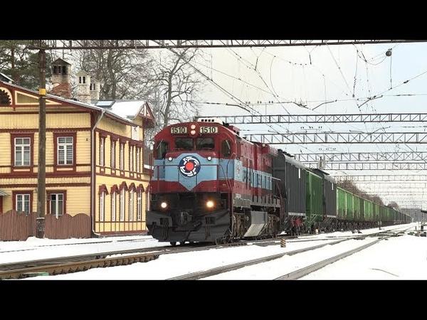 4K Тепловоз Ц36 7и 1510 на ст. Аэгвийду GE C36 7i 1510 at Aegviidu station