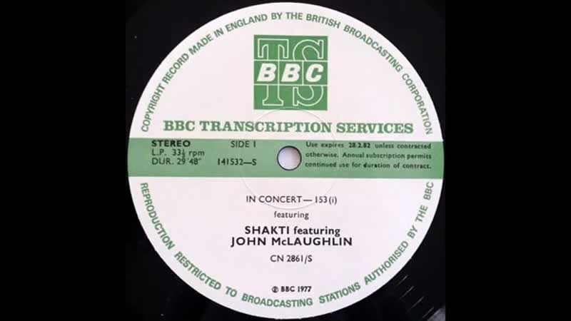 John McLaughlin Shakti BBC Rock Hour 12 live at the Golders Green Hippodrome London UK 12 May 1977