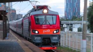 Электровоз ЭП20-069 с поездом№107М Москва-Брянск платформа Матвеевская
