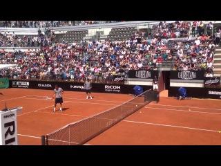 Roger Federer Practice Session Rome 2013