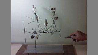 Twittering Machine (Die Zwitscher Maschine) さえずり機械 (after Paul Klee's work)