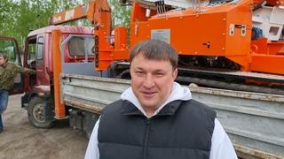 Отгрузка сваебойной установки в город Москва для ООО