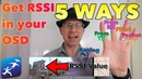 5 Ways to Setup RSSI in your OSD, Analog, TX Telemetry, Receiver Channel, FPort, SBUS Packet Loss
