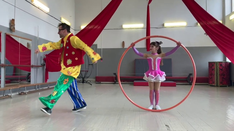Cool kids! Aralova Kira - Cyr Wheel, acrobatic composition Malvina Doll.
