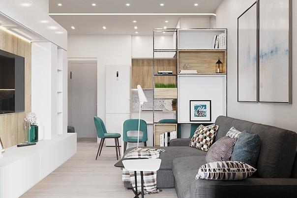Дизайн-проект 1-комнатной квартиры 47 кв. м от ????...