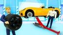 Машинки-помощники готовят к гонкам кабриолет! Игры для детей