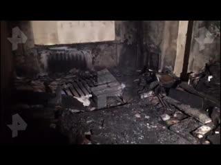 Кадры из квартиры, сгоревшей в Екатеринбурге