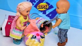 КУДА ИСЧЕЗ ПУПСИ СЛАЙМ? Катя и Макс веселая семейка. Смешной сериал живые куклы Барби как мама