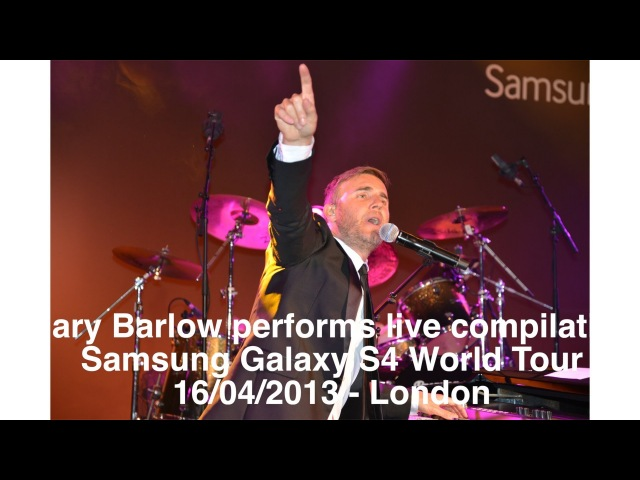 Gary Barlow performs LIVE at the Samung Galaxy S4 World Tour in London 16/04/2013