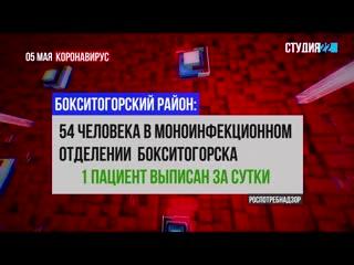Коронавирус: информация по Бокситогорскому району на 05 мая