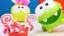 Om Nom ile oyun hamuru şeker yapalım Eğitici video
