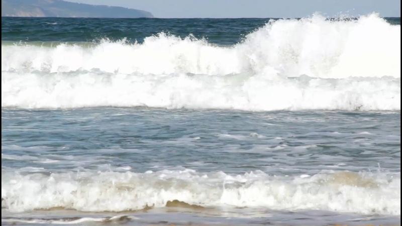 МОРЕ Волны на море Шум моря Футаж для видеомонтажа HD 1800p 2018