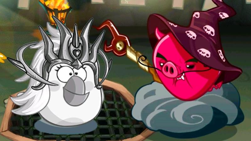 Энгри Бердс ЭПИК с Кидом 183 Замок Босса Демонического Свиномага в Angry Birds Epic на крутилкины