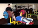 Георгий Берошвили жим лёжа RAW 260 килограммов на 3 раза, подготовка к БЧ - 2014