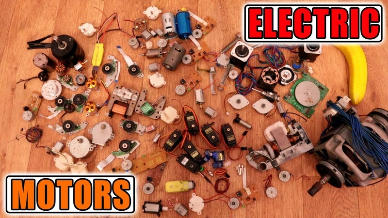 Types Of Electric Motors DC AC Synchronous Brushless Brushed Stepper Servo