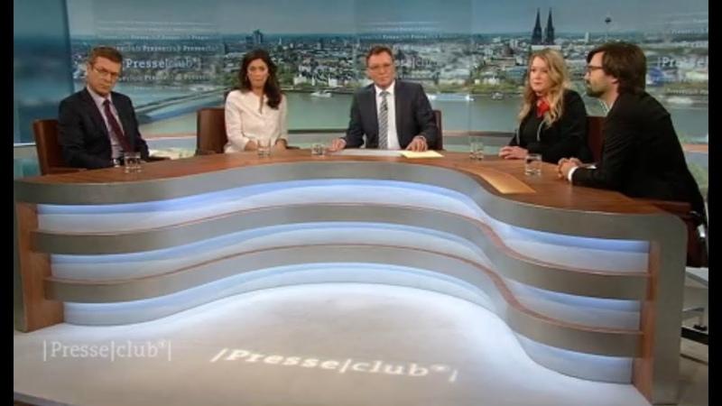 Flüchtlingspolitik im ARD Presseclub Anrufer nimmt kein Blatt vor den Mund