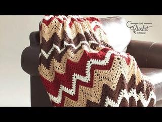 Crochet Cabin in the Woods Vintage Blanket Pattern