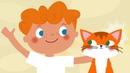 КОШКА - детская добрая веселая развивающая песенка мультик для малышей