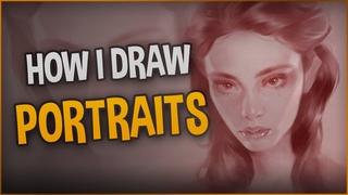 Drawing a Girl Portrait / Ipad Pro + Procreate / Tutorial